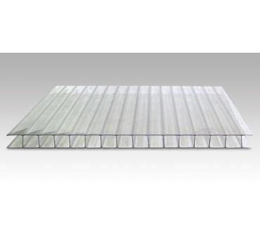 Сотовый поликарбонат Sotolight прозрачный 12 метров (эконом)
