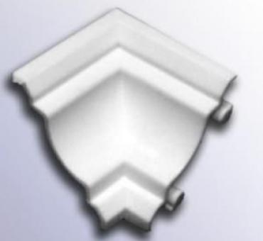 Уголок к пвх плинтусу потолочному внутренний